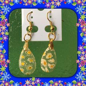 Jewelry - Spring Glass Water Drop Earrings